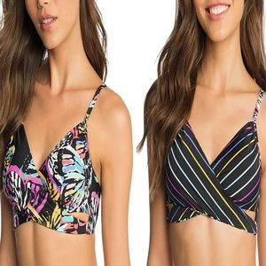 Vera Bradley Butterfly Reversible Bikini Top